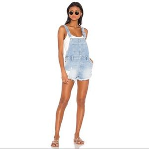 NEW Free People Denim Overall Shorts